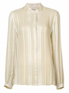 Zeus+Dione embroidered blouse - NEUTRALS