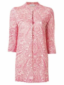 Le Tricot Perugia paisley-print fitted shirt - Red