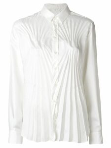 Maison Margiela pleated fitted shirt - White