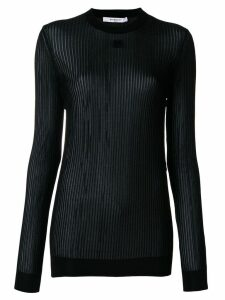 Givenchy 4G semi-sheer pleated top - Black