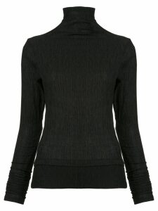 Taylor crinkle turtleneck top - Black