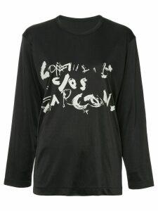 Comme Des Garçons Pre-Owned artistic logo top - Black
