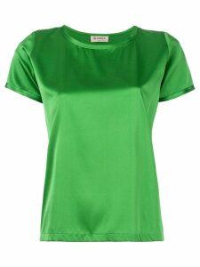 Blanca Vita metallic short-sleeve top - Green