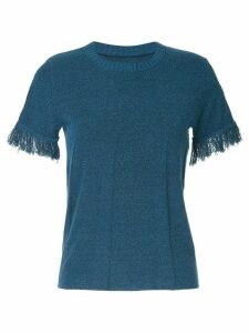 Onefifteen raw cuff T-shirt - Blue