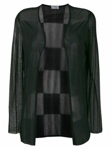 Versace Pre-Owned checked back sheer jacket - Black
