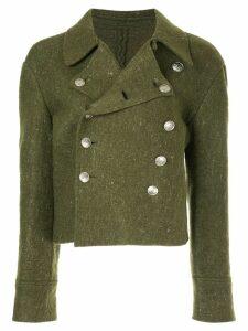 Yohji Yamamoto Pre-Owned double-breasted boxy jacket - Green
