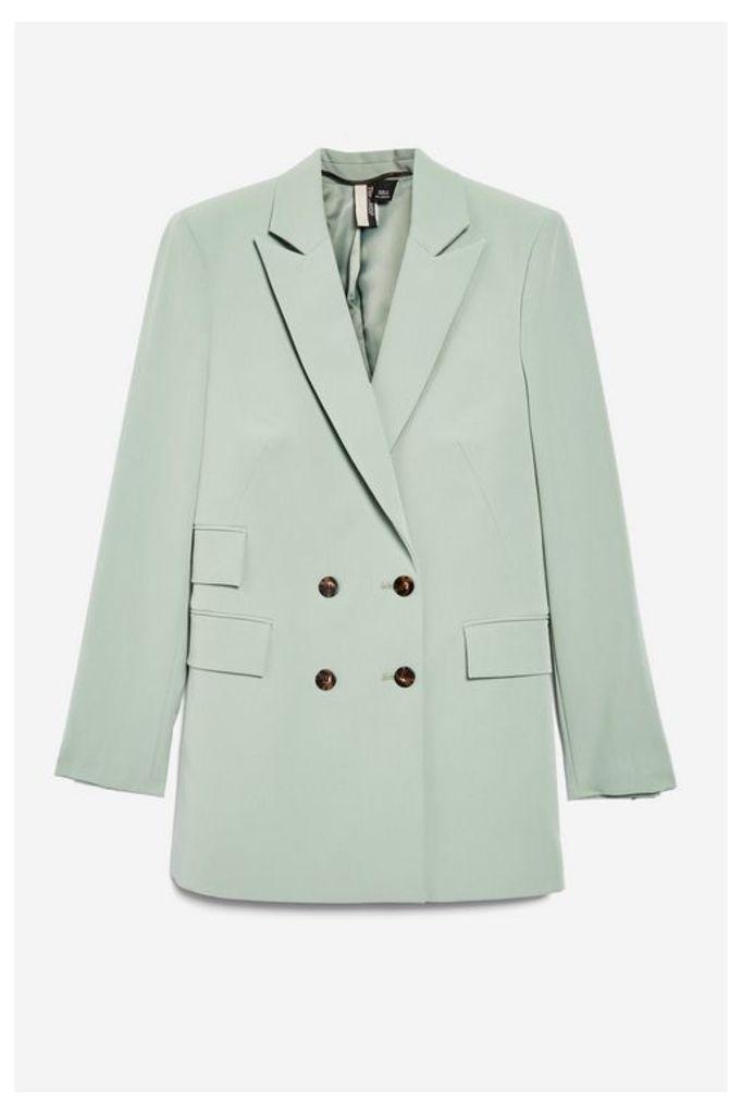 Womens Longline Suit Jacket - Pistachio, Pistachio