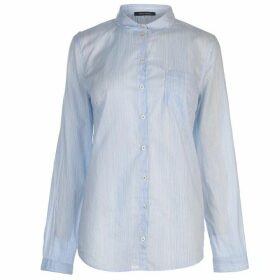 Marc O Polo Long Sleeve Shirt - White/Blue