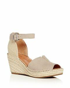 Gentle Souls Charli Nubuck Leather Ankle Strap Platform Wedge Sandals