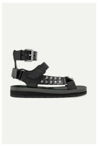 Prada - Studded Leather Sandals - Black