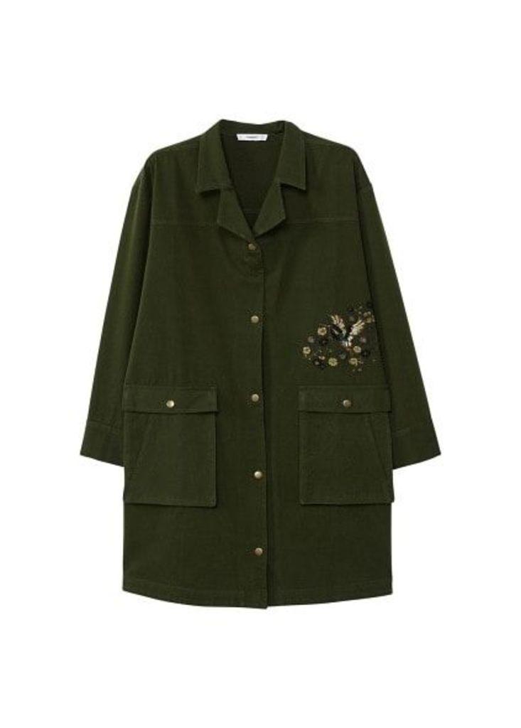 Oversize embroidered jacket
