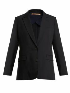Summa - Single Breasted Wool Blend Jacket - Womens - Navy