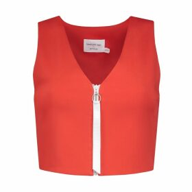 blonde gone rogue - Desire Crop Top In Tomato Red