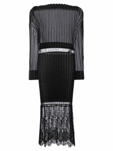 Stella McCartney Carey pleated midi dress - Black