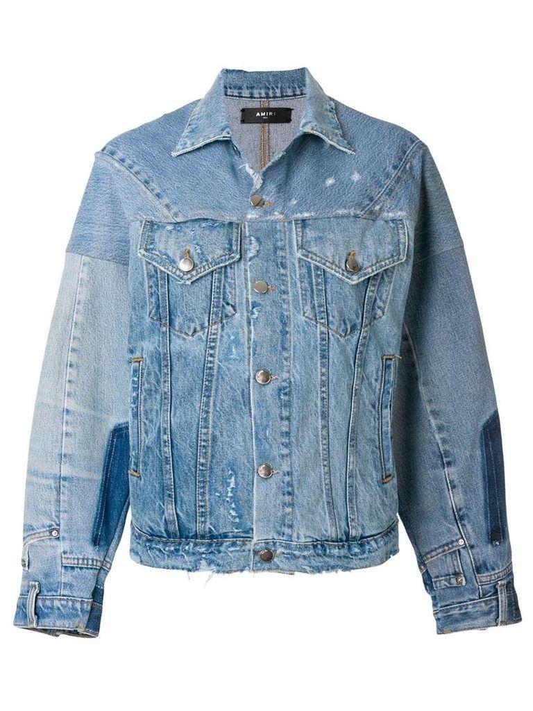 Amiri reconstructed trucker jacket - Blue