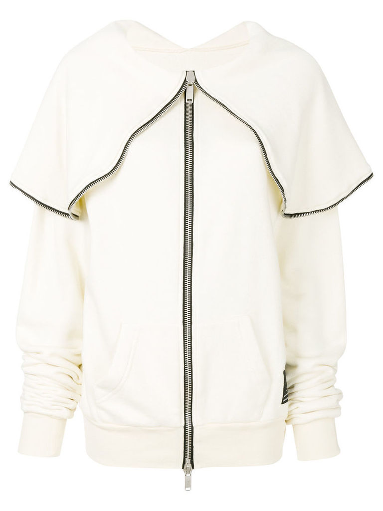 Unravel Project zip detail jacket - White