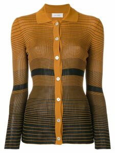 Wales Bonner striped fitted cardigan - Orange