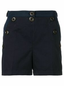 Moncler button front shorts - Blue