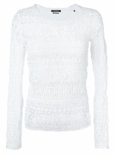 Isabel Marant knitted lace blouse - White