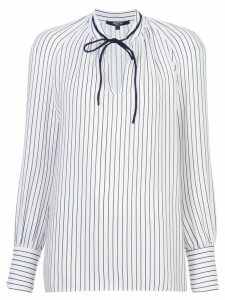 Derek Lam Sonia Stripped Long Sleeve Blouse - Blue