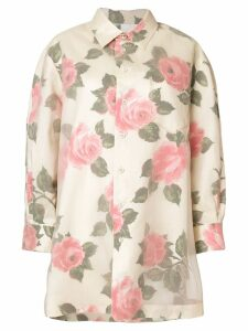 Maison Margiela rose print longline shirt - Multicolour