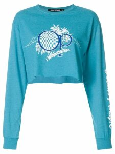 Adaptation logo print sweatshirt - Blue