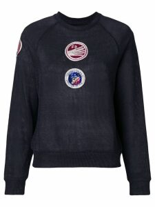 Mr & Mrs Italy patch embellished sweatshirt - Grey