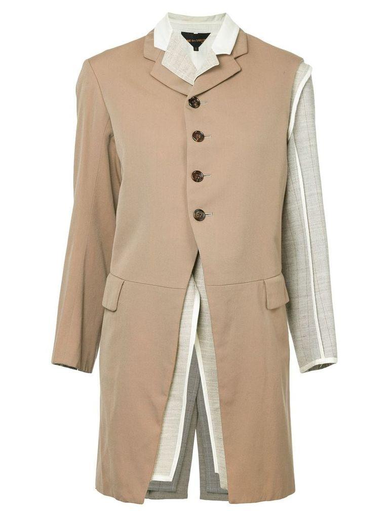 Comme Des Garçons Vintage dissected layered jacket - Brown