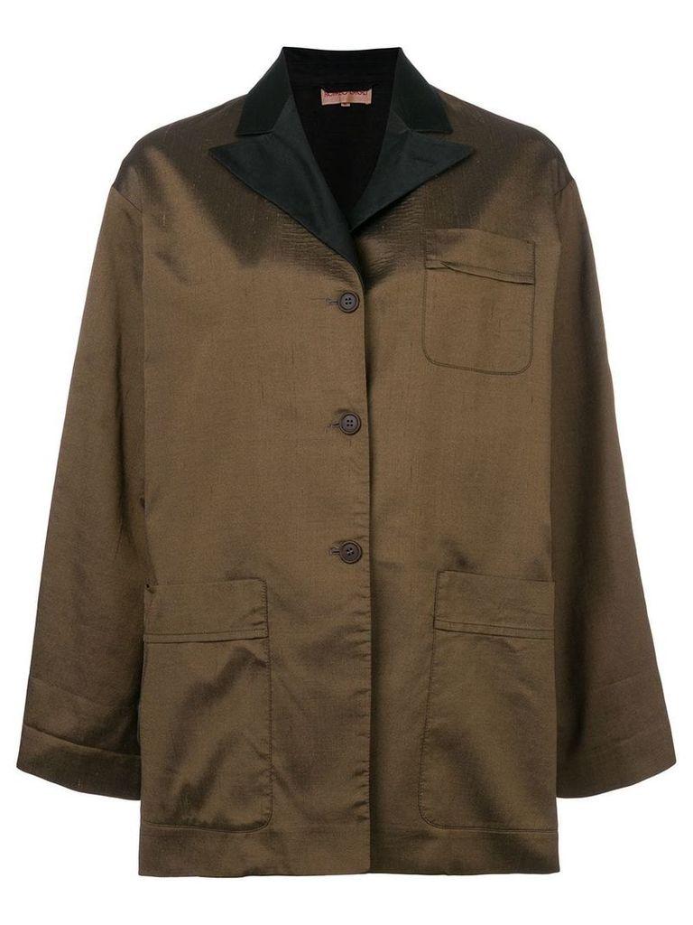 Romeo Gigli Vintage peaked lapels boxy jacket - Brown