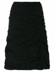 Romeo Gigli Pre-Owned gathered short skirt - Black