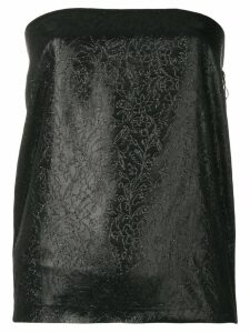 Romeo Gigli Pre-Owned glittery embroidery strapless top - Black