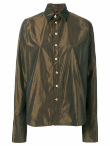Romeo Gigli Pre-Owned iridescent classic shirt - Brown