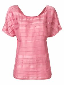 Chanel Pre-Owned 3D striping T-shirt - Pink