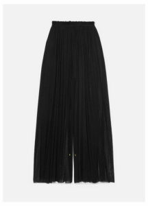 Elena Makri - Tegea Pleated Silk-tulle Pants - Black