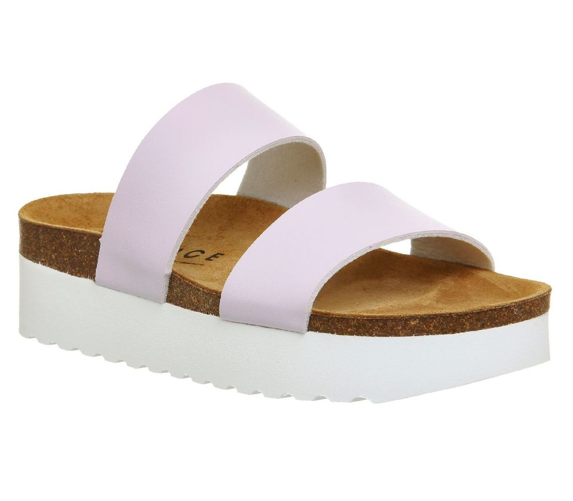 Office Magnetic 2 Footbed Sandals, Lilac