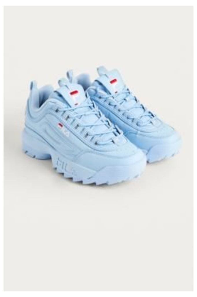 FILA Disruptor Baby Blue Trainers, blue
