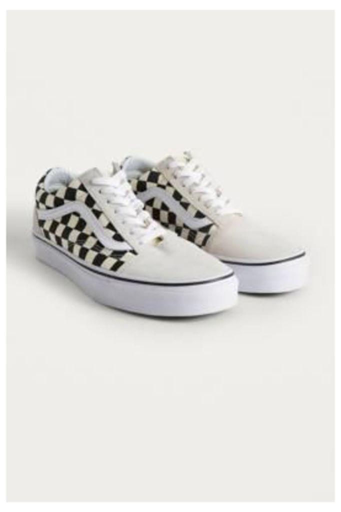 Vans Old Skool Black and White Checkerboard Trainers, black