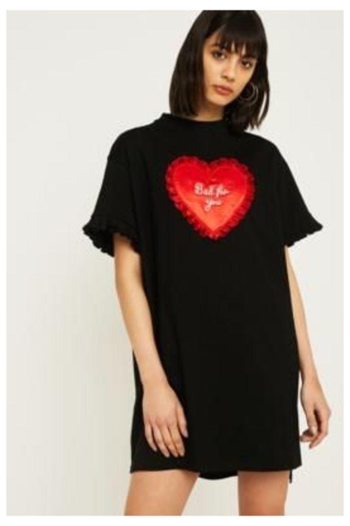 Lazy Oaf Bad For You T-Shirt Dress, black