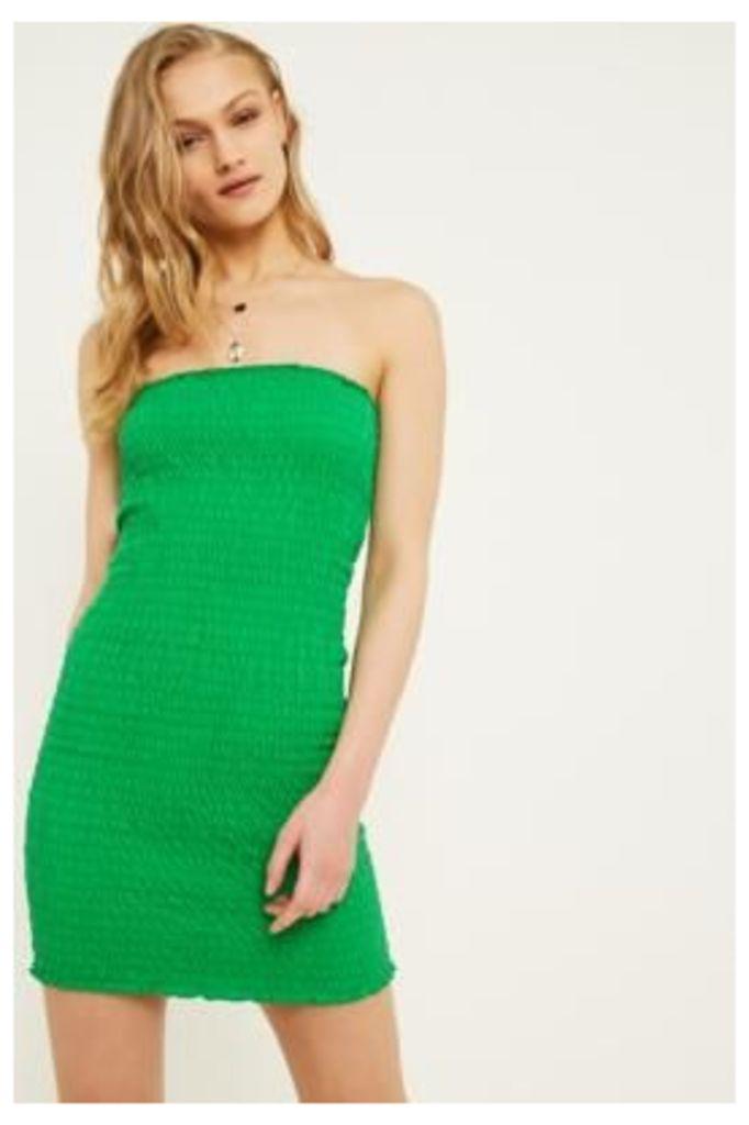 UO Smocked Tube Top Dress, green
