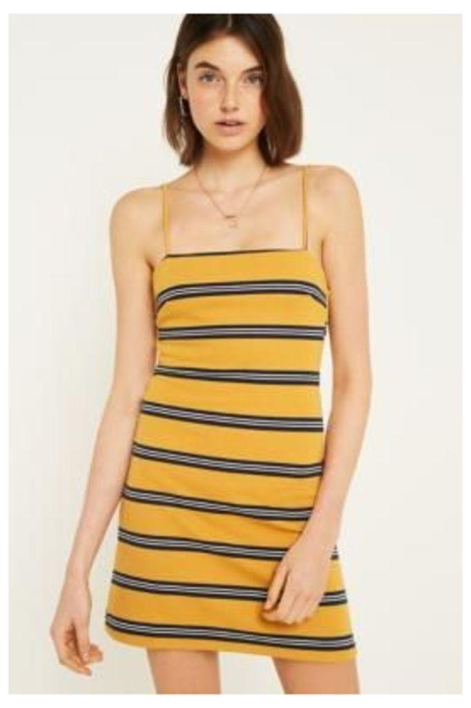 UO Charlee Striped Cami Dress, yellow