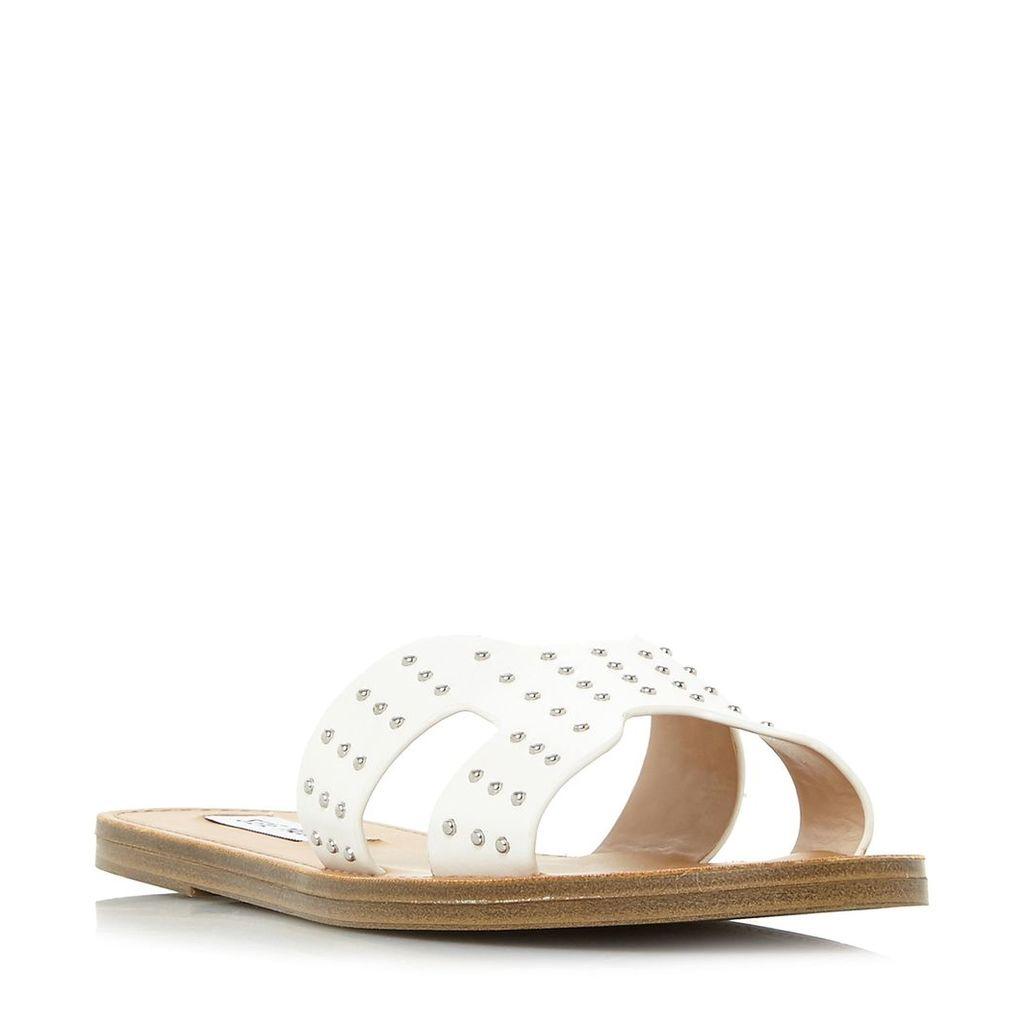 Steve Madden Lisa Sm Stud Cut Out Sandals, White