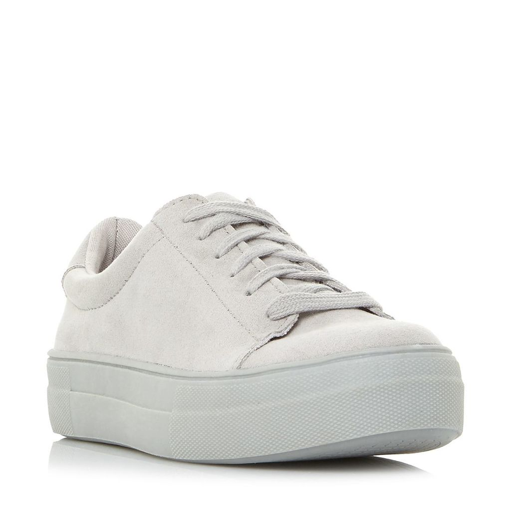 Steve Madden Brody Sm Lace Up Flatform Trainers, Grey