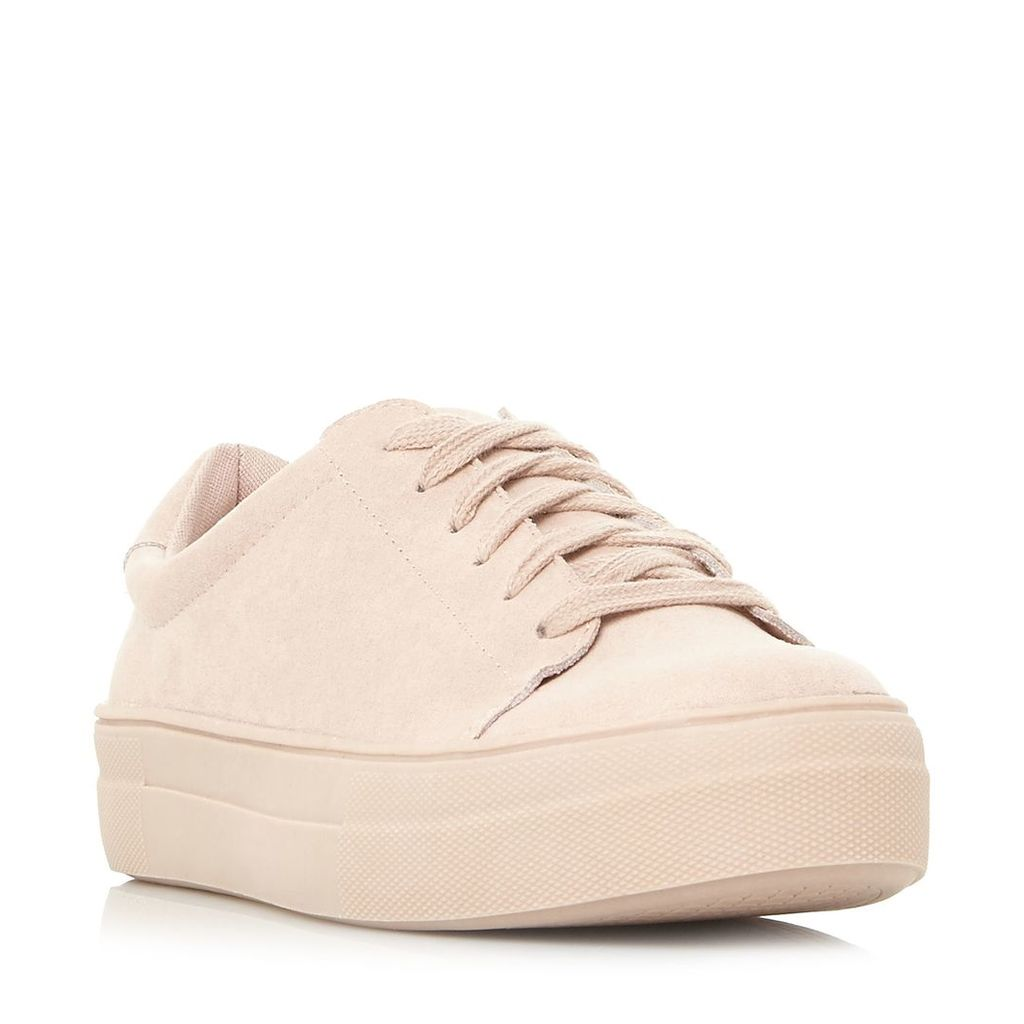 Steve Madden Brody Sm Lace Up Flatform Trainers, Pale Pink