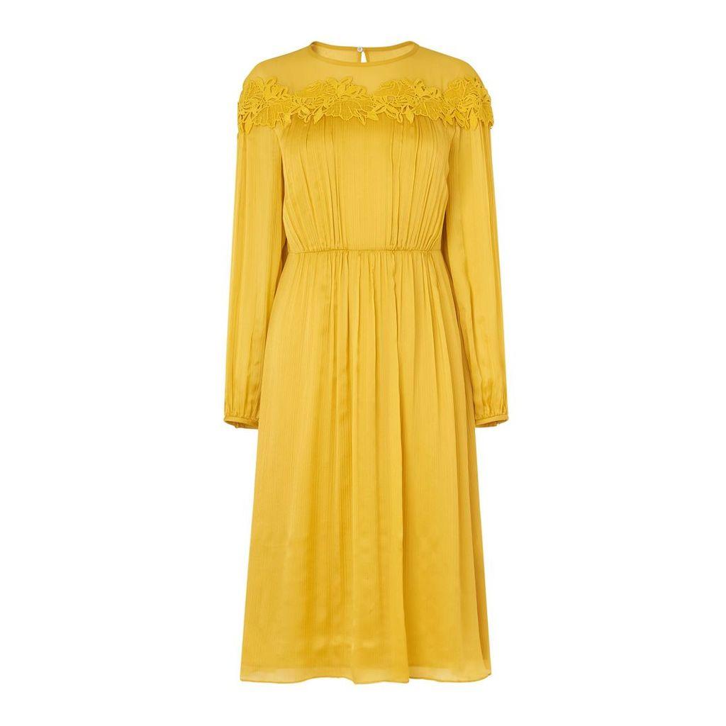 L.K.Bennett Isabel Silk Dress, Yellow
