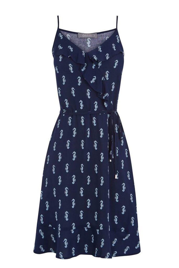 Oasis Seahorse dress, Multi-Coloured