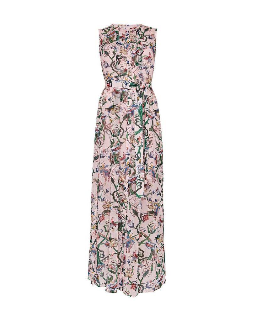 Ted Baker Susien Cbn Jungle Print Dress, Dusky Pink
