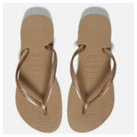 Havaianas Women's Slim Flip Flops - Rose Gold - EU 41-42/UK 8-9