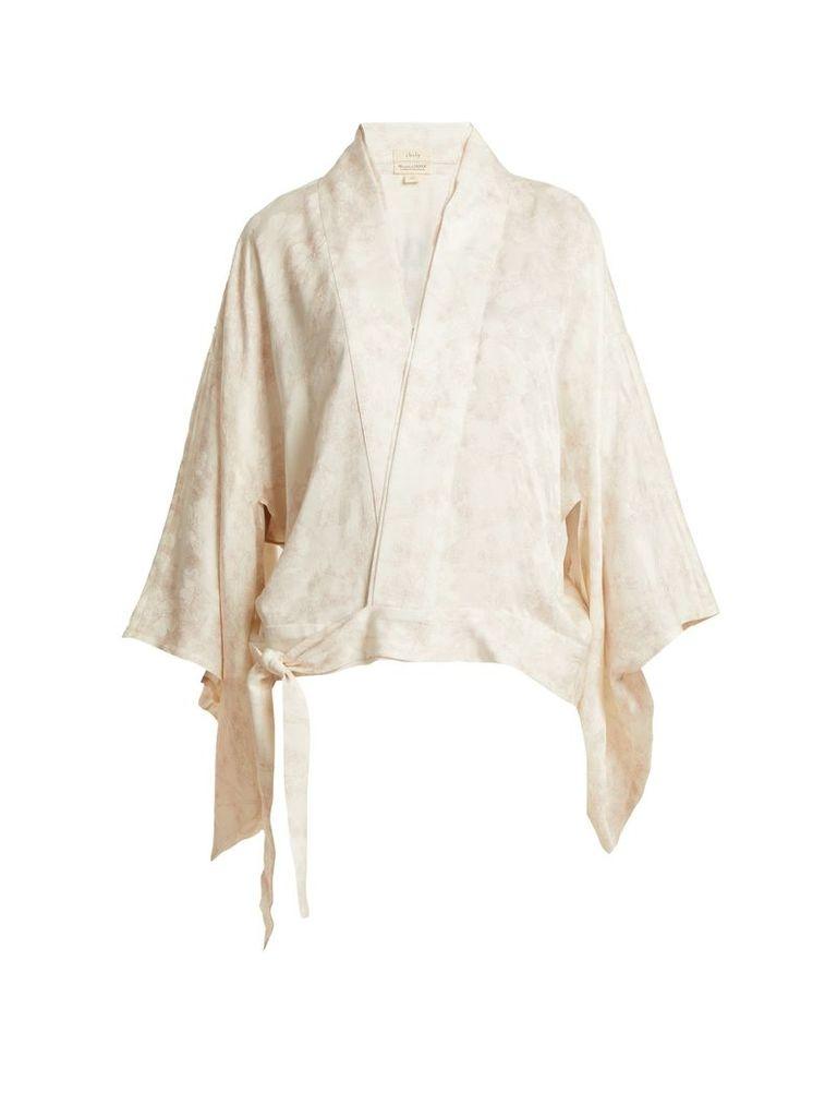 Embroidered nibushiki kimono jacket