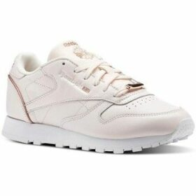 Reebok Sport  CL Lthr  women's Shoes (Trainers) in Pink