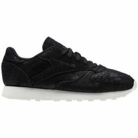 Reebok Sport  CL Lthr Shimmer  women's Shoes (Trainers) in Black